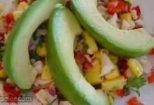 Crab & Avocado Salad with Fruit Salsa