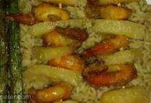 Creamy Curried Shrimp with Grilled Pineapple