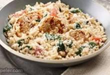 Creamy Rice, Chicken and Spinach Dinner