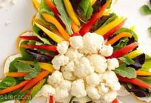 Crescent Turkey Shaped Veggie Platter
