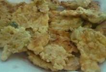 crispy zucchini or pumpkin blossoms