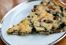 Crustless Spinach and Mushroom Quiche