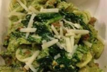 Dandelion Pesto and Sausage Pasta