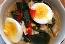 easy, spicy chicken ramen noodle soup