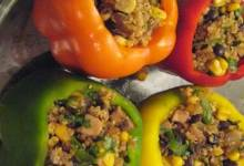 easy vegan stuffed bell peppers