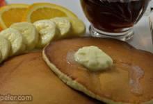 Eggcellent Eggnog Pancakes