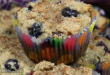 Eggless Blueberry Muffins with Applesauce, Almond Milk, and Almond Flour