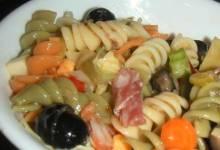 ellen's muffaletta pasta salad