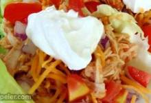 Fiesta Slow Cooker Shredded Chicken Tacos