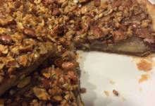french pear tart with nuts