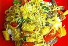 Fresh Vegetable Stir-Fry with Peppery Orange Beef