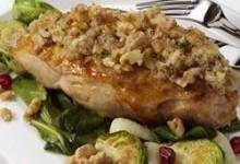 Garlic and Walnut Crusted Chicken