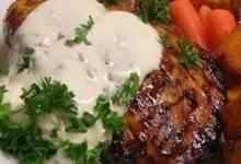 Garlic Cream Sauce over Chicken Breasts