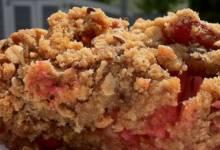 ginger rhubarb crisp