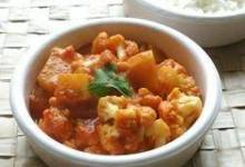 Gobi Aloo (ndian Style Cauliflower with Potatoes)