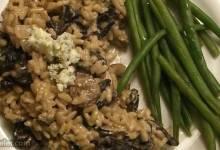 gorgonzola and wild mushroom risotto