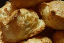 gougeres with ham