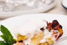 Grilled Blackberry Brioche Bread Pudding