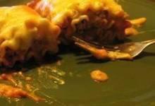 Grilled Chicken and Portobello Lasagna Rollups