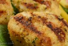 Grilled Garlic Parmesan Crusted Scallops