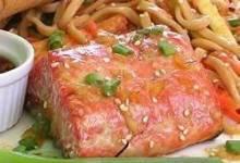 grilled salmon with orange glaze