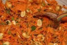 Gujarati Carrot and Peanut Salad