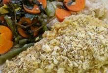 herb-crusted walleye