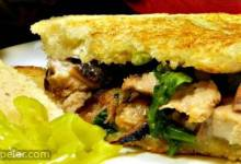 Herbed Grilled Cheese and Pork Sandwiches