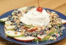 HERSHEY'S Dessert Nachos 3 Ways: Apple Variation