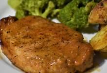 honey-garlic pork chops