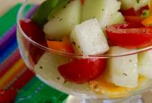 honeydew-grape tomato salad