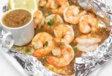jamaican jerk shrimp in foil