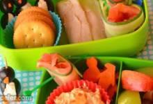 Kids' Turkey and Cream Cheese Spread Bento Box