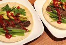 korean-style bulgogi beef tacos