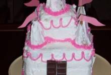 large white birthday cake