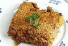 layered eggplant hamburger casserole