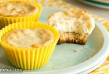 Lemon Goat Cheese Cheesecake Bites (Gluten Free Optional)