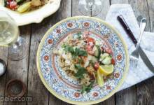 Lemon Herb Chicken with Couscous and Cucumber Salad