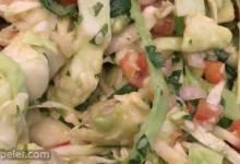 Lemony Cabbage-Avocado Slaw