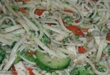 linguine with chicken and sauteed vegetables
