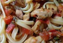 linguine with clams and porcini mushrooms