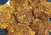 Low-Cal Zucchini Pancakes with Low-Fat Basil Dressing