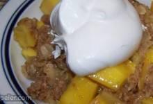 Mango Passion Fruit Crumble