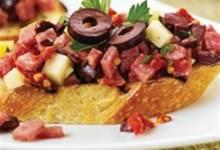 margherita® sun-dried tomato and salami bruschetta