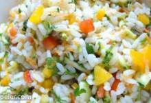 Mediterranean Rice Salad with Vegetables