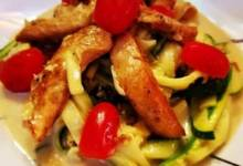 mike's epic zoodle fettuccine alfredo with chicken