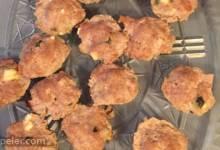 Mini Turkey Loaves with Feta, Basil, and Balsamic Sauce