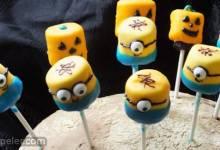 Minions Marshmallow Pops