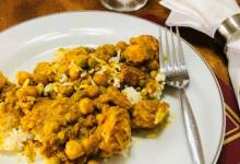 ndian curried chicken thighs