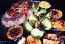 One-Pan Grilled Steak and Vegetables